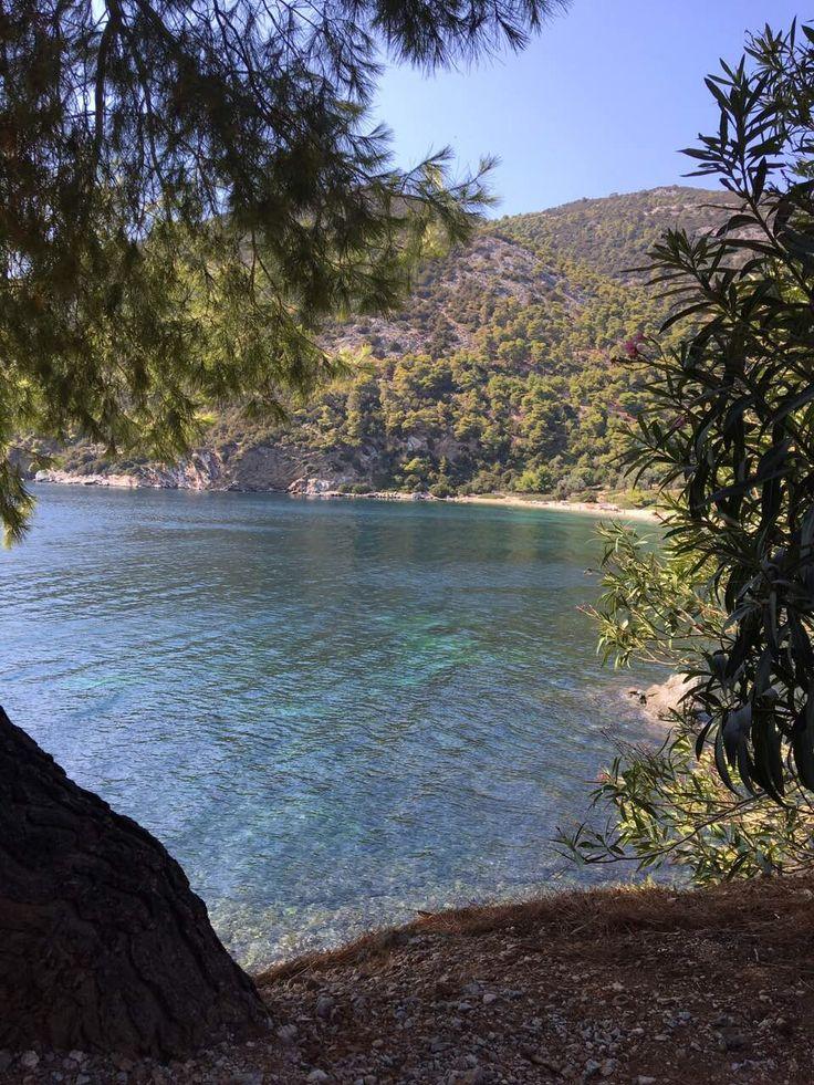 Pefkos beach in Skyros, Greece