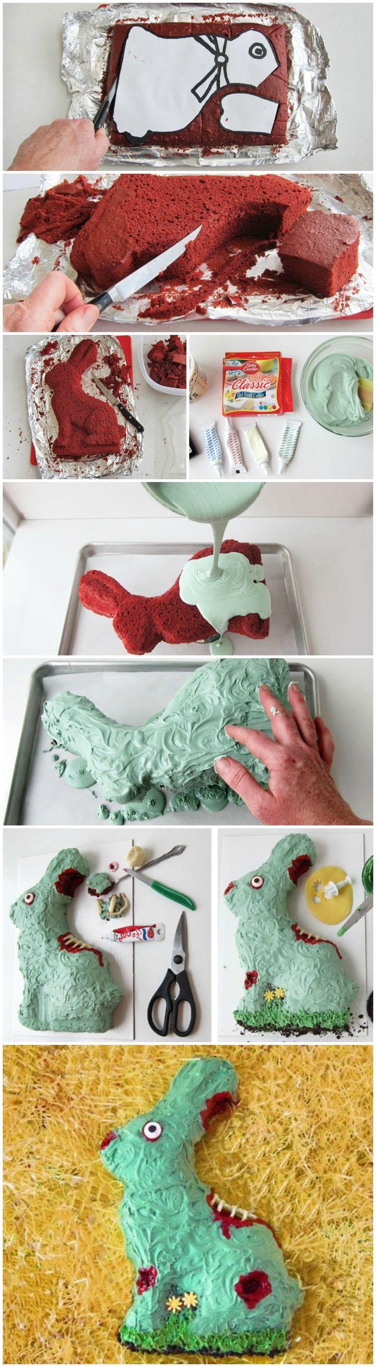Zombie Bunny Easter Cake #ZombieBunny #bettycrocker