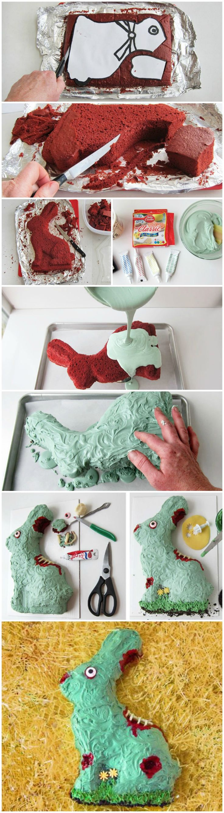 Zombie Bunny Easter Cake