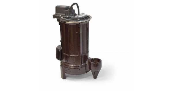 1/2 HP Automatic Sump / Effluent Pump w/ Vertical Float Switch, 110V ~ 120V, 25' cord