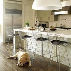 Bertoia Style Wire Bar Stool Chair