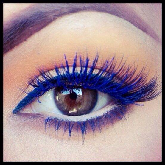 Electric blue mascara