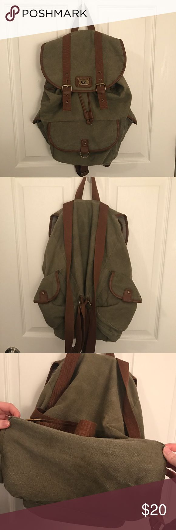 Mossimo Army Green Backpack Mossimo Green Backpack in great condition! Barely used and has some good life left in it :) Offers are welcomed! Mossimo Supply Co Bags Backpacks