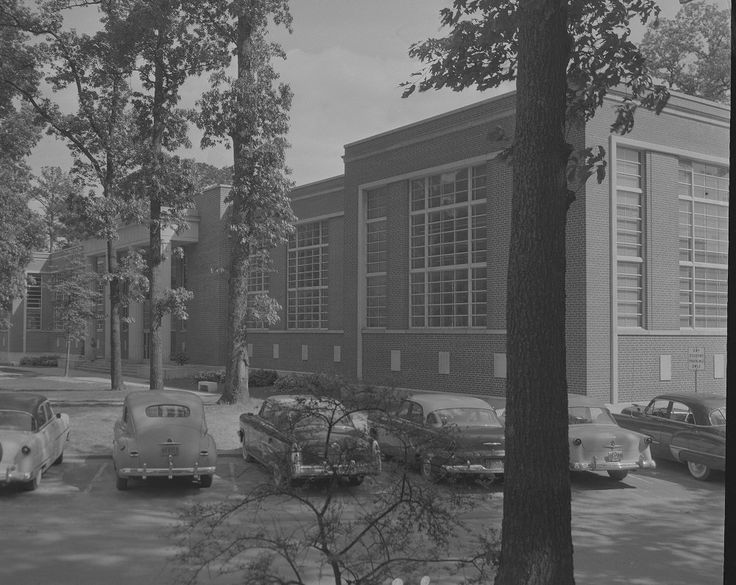 Look at these classy cars parked in front of Joyner Library in 1958!