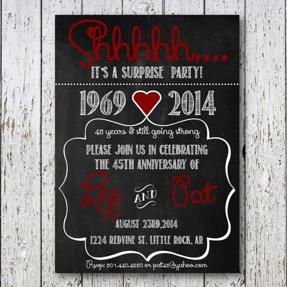 Surprise Party anniversary by SimpleDevineDesign on Etsy, $15.00