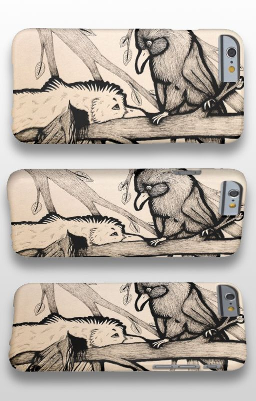 """""""The Pirate and the Princess"""" Illustrated bird iPhone 6 Case #seagull #raven #art #illustration #products"""