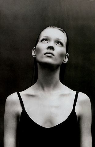 Kate Moss by Patrick Demarchelier -repinned from Orange County studio photographer http://LinneaLenkus.com #portraitphotography #blackandwhiteportraits