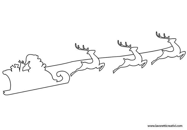 Sagome per lavoretti – Babbo Natale in slitta