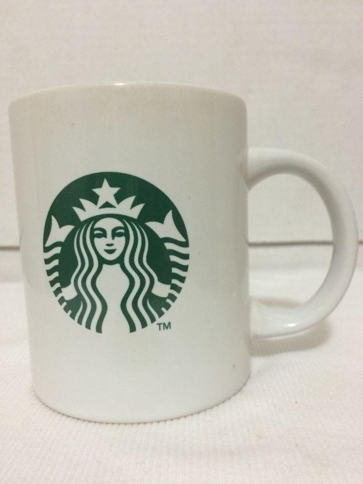 2011 Classic Mermaid Siren Logo White Green Coffee Tea Starbucks Mug Cup 10 Oz #Starbucks