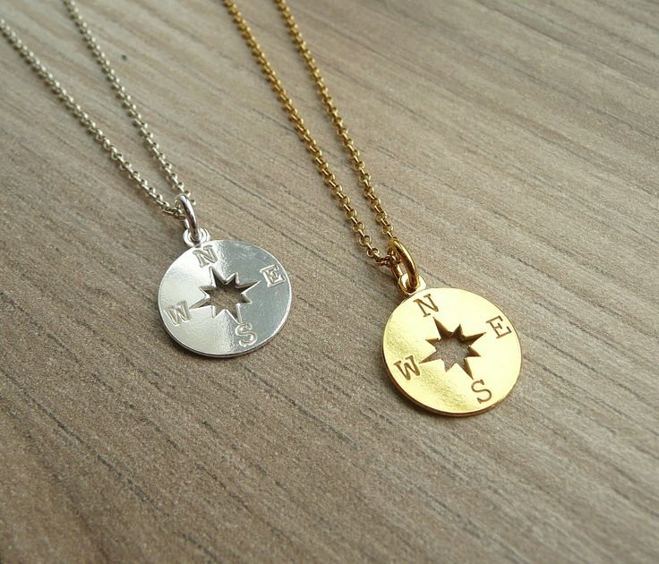 A personal favorite from my Etsy shop https://www.etsy.com/listing/510589772/sterling-silver-compass-necklace