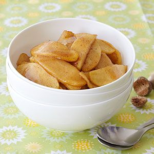This simple spiced apples recipe is great for breakfast, a warm and yummy side, or served atop pork. If you can't find McIntosh apples, substitute another baking apple such as Rome or Gala, or try a crisp, tart green apple such as Granny Smith.