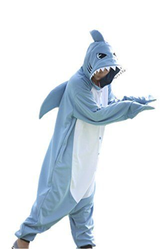 WOTOGOLD Animal Cosplay Costume New Shark Onesies Unisex-adult Pajamas Cartoon Sleepwear, http://www.amazon.com/dp/B016OBCALK/ref=cm_sw_r_pi_awdm_lb18wb1G7NRG1