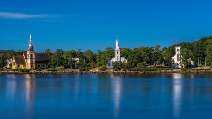 The Three Churches of Mahone Bay, Nova Scotia