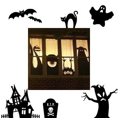ber ideen zu halloween deko selber machen auf. Black Bedroom Furniture Sets. Home Design Ideas