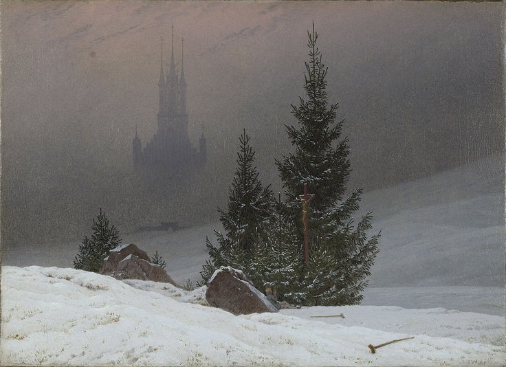 Caspar David Friedrich - Winter landscape with church