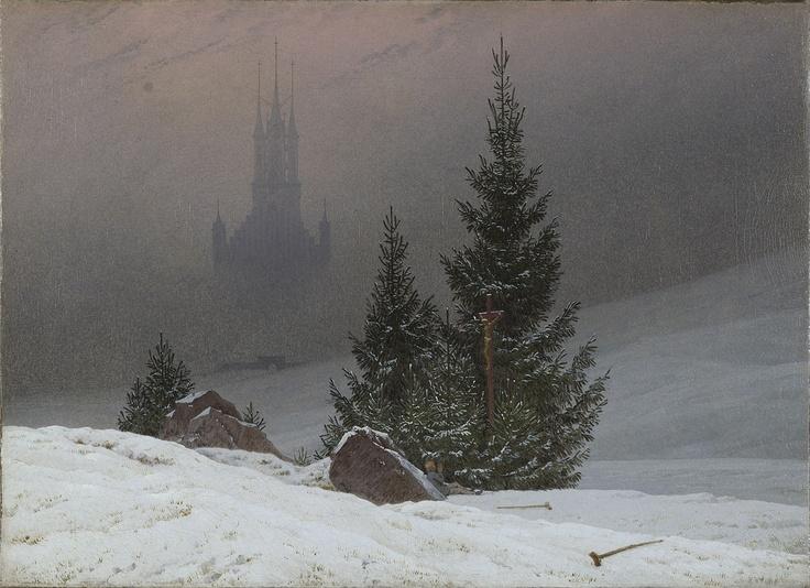 Caspar David Friedrich - Winter landscape with church