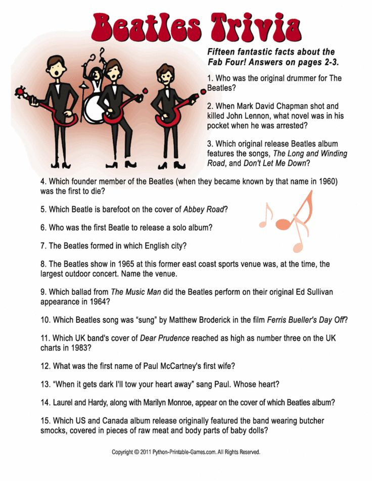 Beatles Trivia 60th Birthday Game!