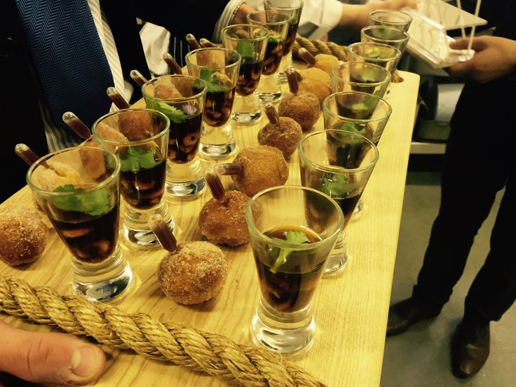Pumpkin Doughnuts And Asian Broth Provided By Unique Norfolk Venues