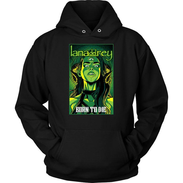 Lana Del Rey - Born to Die metal hoodie USD 17.59 We ship worldwide! -------------------- metal head, black metal, fashion, clothing, pop music, electro pop