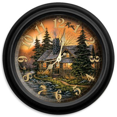 "ReflectiveArt Prime Time 16"" Classic Wall Clock"