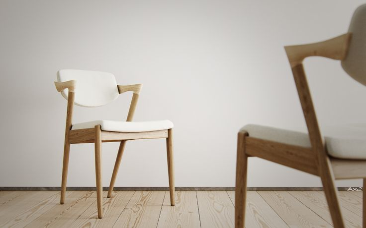 """FLAP BACK"" CHAIR, designed by Kai Kristiansen in the mid 50s, 3d model I made."