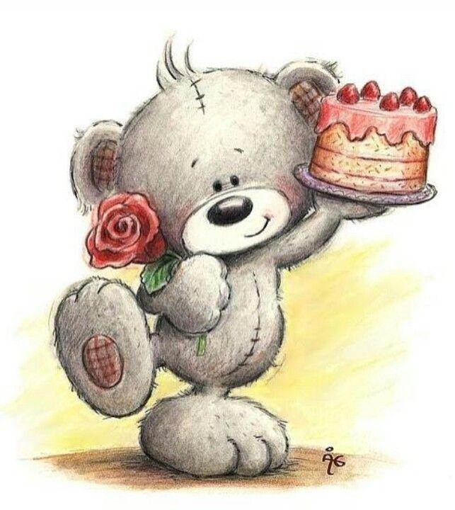 Картинка с днем рождения девушке с мишкой тедди