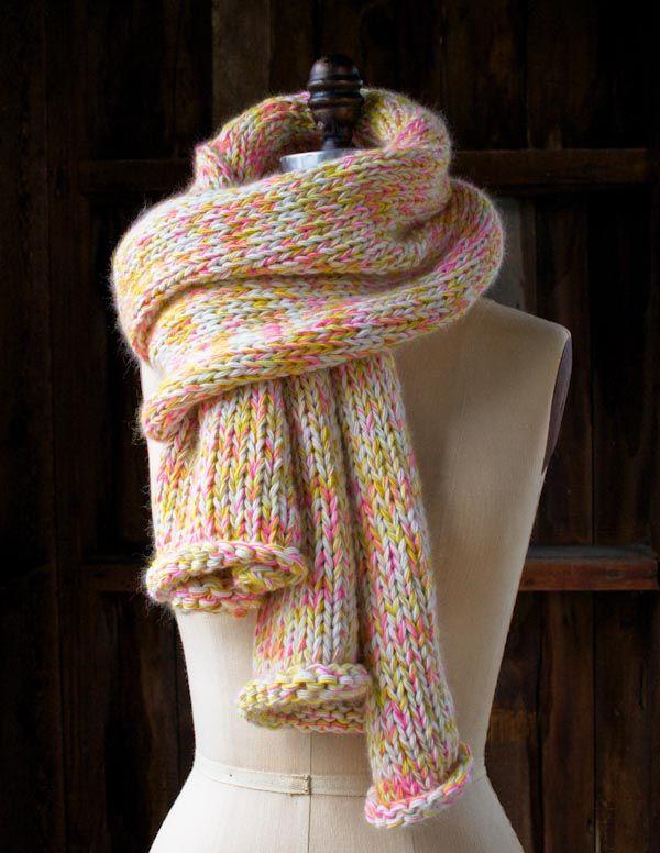 DIY: confetti scarf #knit
