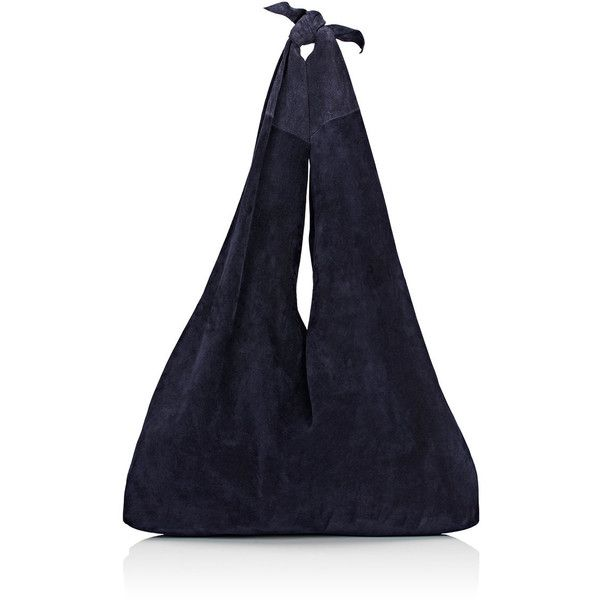 The Row Women's Bindle Shoulder Bag (£910) ❤ liked on Polyvore featuring bags, handbags, shoulder bags, navy, navy handbags, shoulder strap bags, blue suede purse, navy shoulder bag and suede handbags