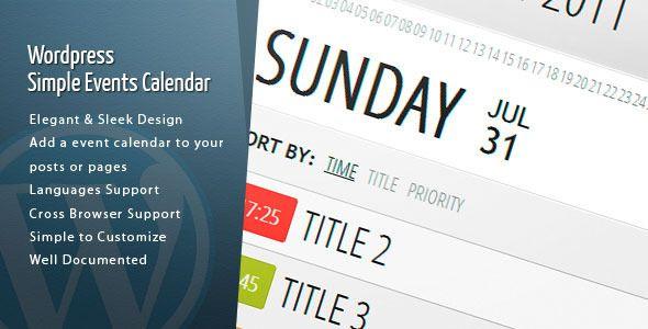 Wordpress Events Calendar - CodeCanyon Item for Sale