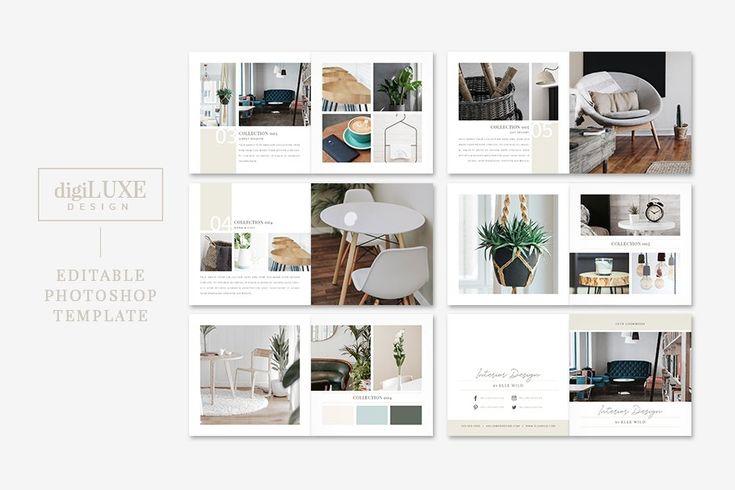 Modern Interior Design Lookbook Portfolio Template Design Interior Design Presentation Interior Design Books