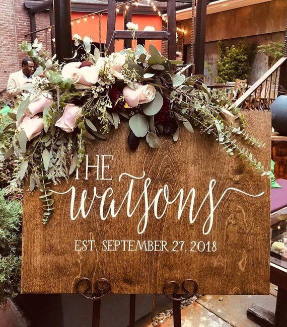 Wedding Welcome Sign   Rustic Wood Wedding Welcome Sign   Wedding Sign   Family Established Sign