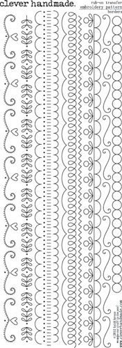 Clever Handmade - Embroidery Patterns - Rub Ons - Borders at Scrapbook.com