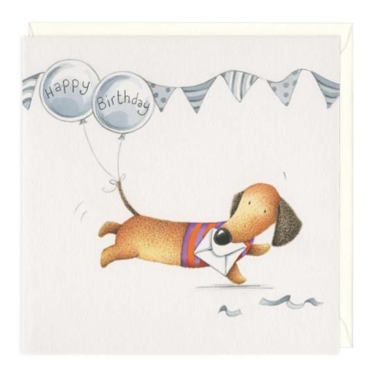 Balloon tail dachshund birthday greeting card dachshund greeting balloon tail dachshund birthday greeting card m4hsunfo