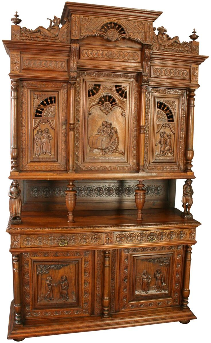 antique chestnut french style buffet buffet with shelves pinterest style antiques and ps. Black Bedroom Furniture Sets. Home Design Ideas