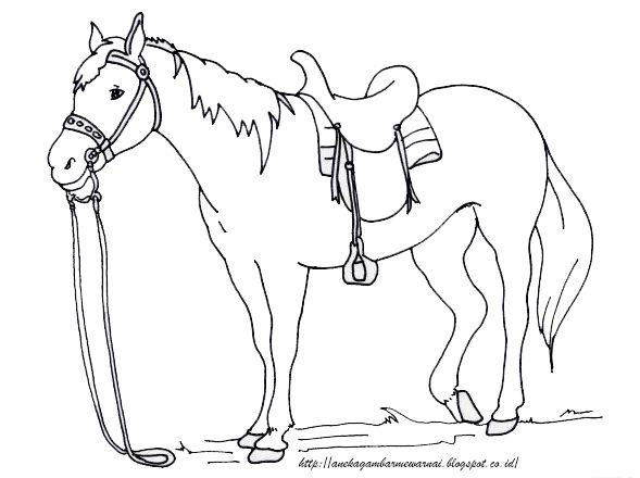 Aneka Gambar Mewarnai Gambar Mewarnai Kuda Untuk Anak Paud Dan Tk