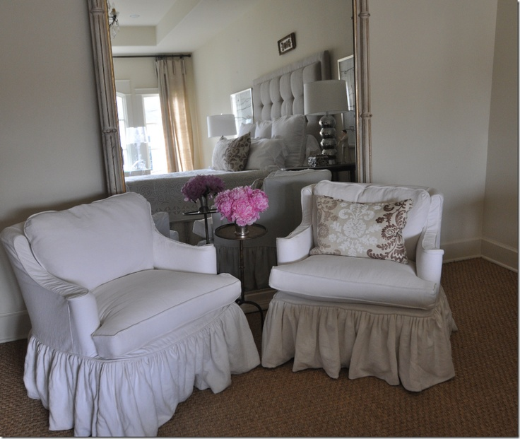 Slip Covered Chairs From Sally Wheatu0027s Master Bedroom ~~ Slipcovers By  Gracie Wilkins Of Gracieu0027s Custom Interiors.
