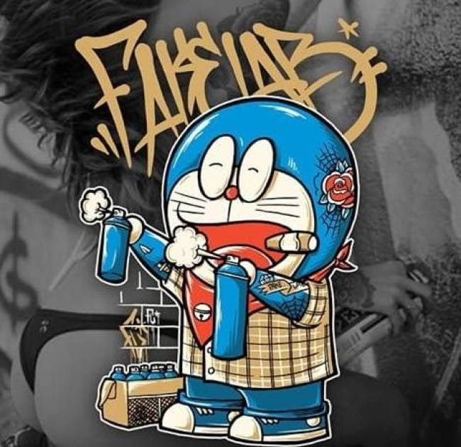Paling Bagus 15 Grafiti Gambar Doraemon Keren Merokok Di 2020 Doraemon Gambar Zombie