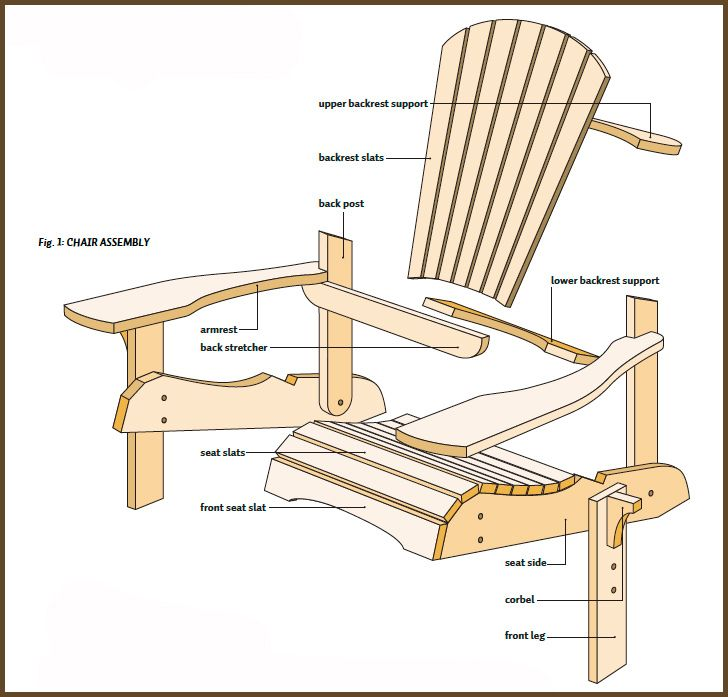 It is an image of Soft Printable Adirondack Chair Plans