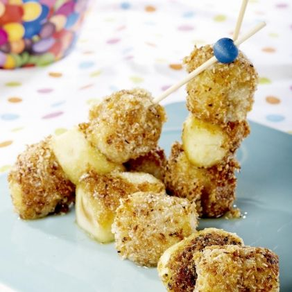 ActiFried Apples and Bananas with Coconut