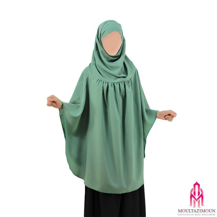 Khimar à fronces - Al Moultazimoun #Overhead #khimar #jilbab #cardigan #jilbab #best #abaya #modestfashion #modestwear #muslimwear #jilbabi #outfit #hijabi #hijabista #long #dress #mode #musulmane #clothing