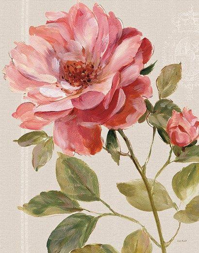 Harmonious Rose Linen Fine-Art Print by Lisa Audit at UrbanLoftArt.com
