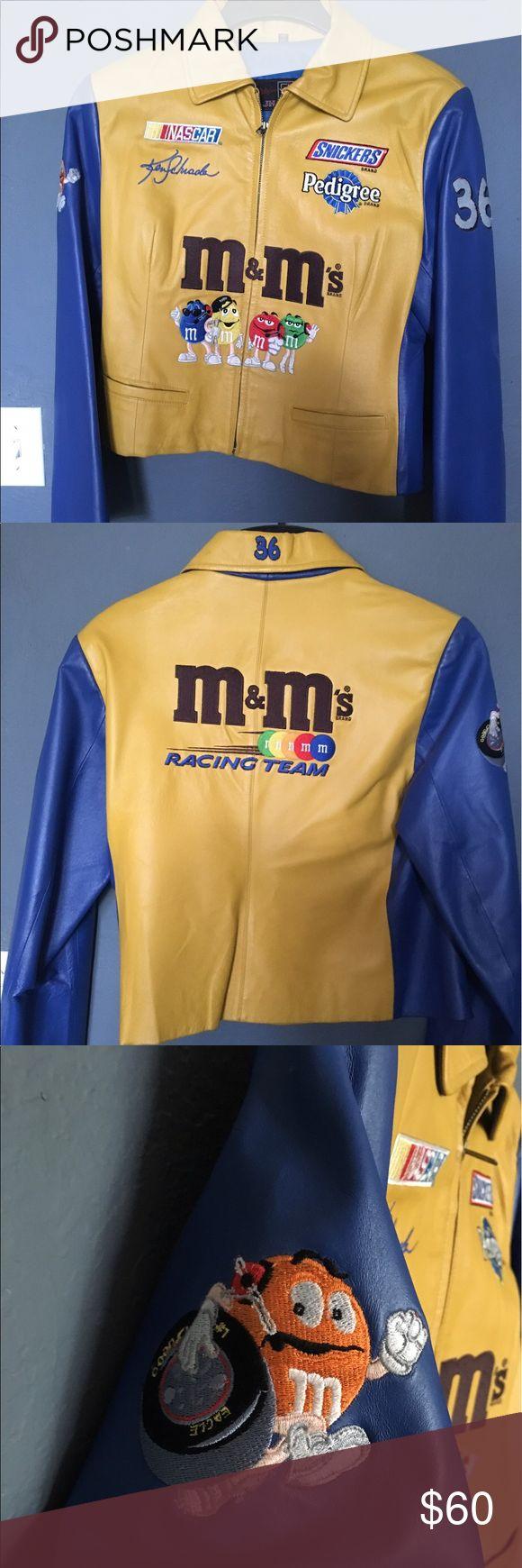 Vintage women's Ken Schrader M&M leather jacket Slim fit Nascar jacket. Vintage. Stylish. Authentic. JH Design Jackets & Coats