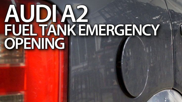 How to emergency open fuel tank cover in #Audi #A2 #service #cars