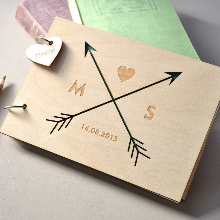personalised arrows guest book by clouds and currents | notonthehighstreet.com