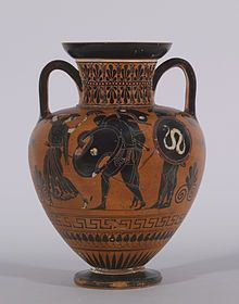 amphora  ajax  achilles body | Black-figure Amphora with Ajax Carrying the Dead Achilles . Walters ...