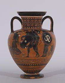 amphora ajax achilles body | Black-figure Amphora with Ajax Carrying the Dead Achilles . Walters ...