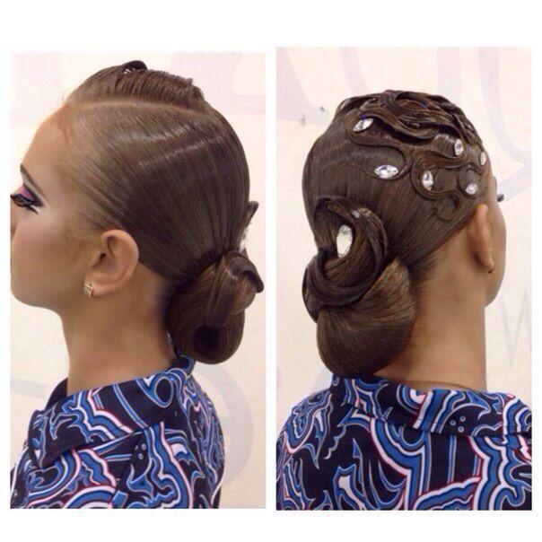banana peel hairstyle : ... Hairstyles, Ballrooms Hairstyles, Dance Makeup, Hair Style, Dancesport