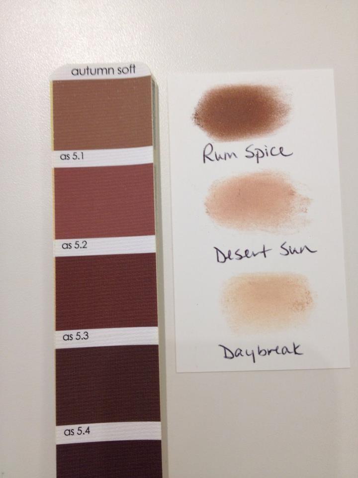 Make up tones for Soft Autumn