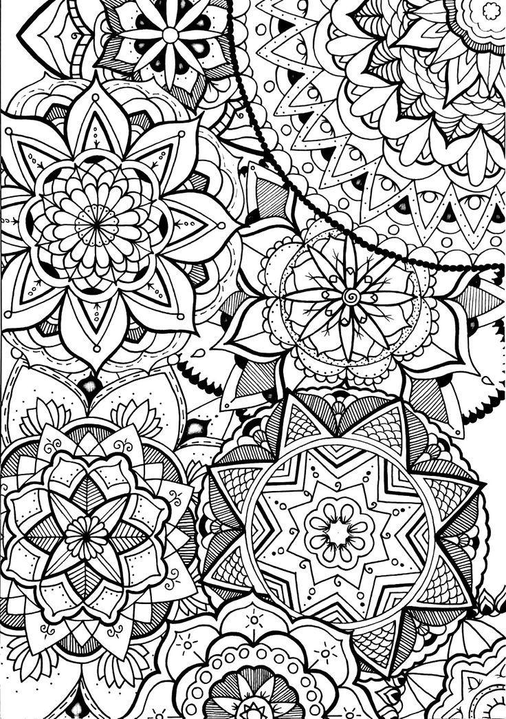 Mandala doodle | mandala | Pinterest | Mandalas, Colorear y Pintar