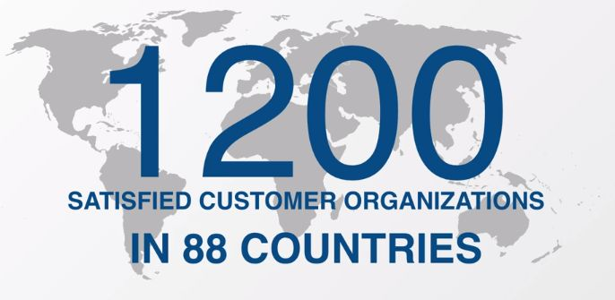 ZOOM Int. has over 1200 satisfied customer organizations in 88 countries.